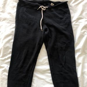 The Great cropped sweatpants almost black